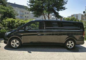 Transport en Taxi dans le Var en Mercedes Classe V à Saint-Tropez Var